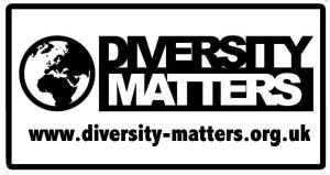 DM logo white