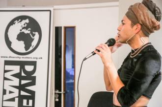 Travis Alabanza performing