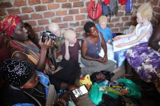 Kai video documenting Fridah and her children with albinism