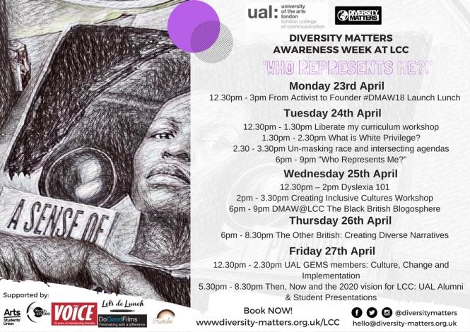 DMAW18@LCC timetable