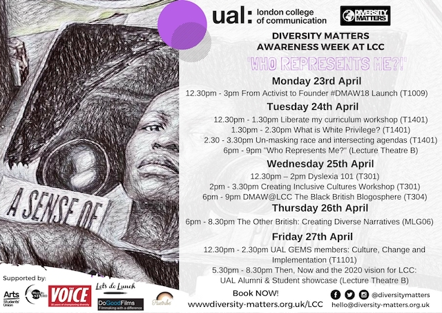 LCC Diversity Matters Awareness Week with room #